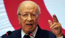 السبسي: الخيار السياسي هو المخرج الوحيد للأزمة السورية