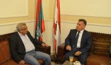 سعد عرض ملف العلاقات اللبنانية الفلسطينية مع اللواء ابراهيم