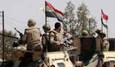 الجيش المصري: مقتل 15 مسلحا والقبض على 7 آخرين بمداهمات بوسط سيناء