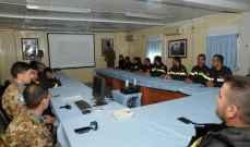 الكتيبة الاسبانية باليونيفل تستعد لتدريب الدفاع المدني على  مواجهة الكوارث الطبيعية