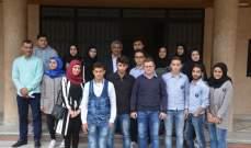 سعد استقبل وفداً طلابياً من مؤسسة أمل التربوية