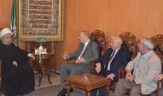 قبلان التقى الجمعية الإسلامية ومجلس مستشفى الزهراء ووفدا علمائيا سوريا