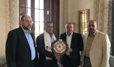 ابراهيم استقبل وفداً من حماس وبحث معه الاوضاع الفلسطينية