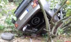تدهور سيارة في حبوب الجبيلية والدفاع المدني يعمل على سحب جثتين