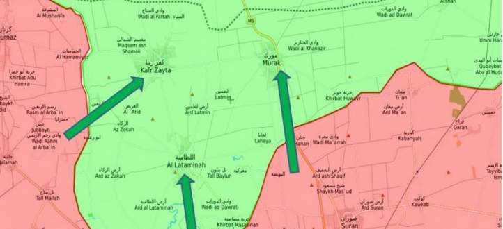 النشرة: الجيش السوري سيطر على 80 بالمئةمن ريف حماة الشمالي