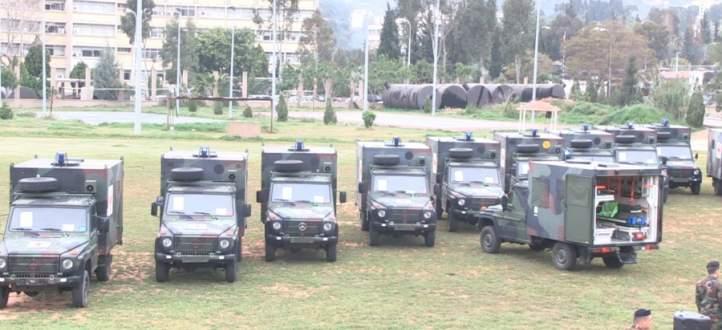 قيادة الجيش تسلمت من هولندا 20 سيارة إسعاف مجهزة