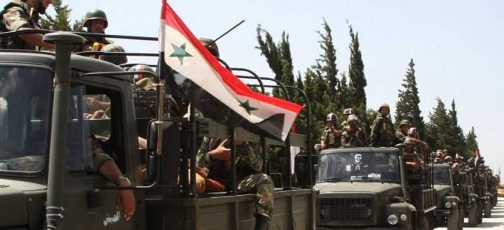 النشرة: الجيش السوري يحقق تقدما في نقاط قرب حقول النفط بريف حمص الشرقي
