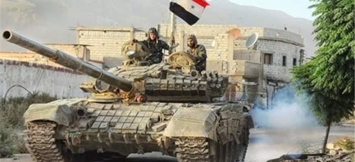 النشرة: الجيش السوري يقصف تجمعات المسلحين في عمق جوبر والمناطق المحيطة