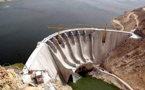 انهيار سد جهرم في محافظة فارس جنوب ايران