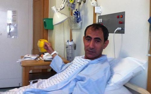 بالصور يسرى فودة بالمستشفى اصابتة حادث سيارة 1364232238_148425543