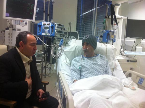 بالصور يسرى فودة بالمستشفى اصابتة حادث سيارة 1364232238_321382_49