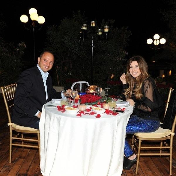 بالصور نانسي عجرم تحتفل بعيد