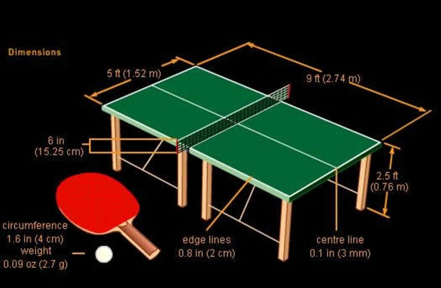 All hale standard sizes standard ping pong table size - What is the size of a ping pong table ...