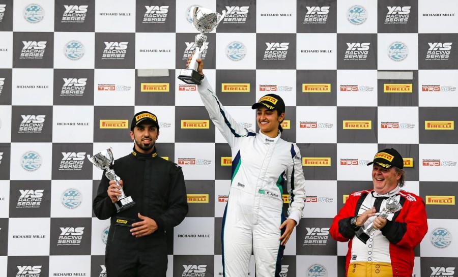 6182f7f41 أما السائقة السعودية الشابة ريما الجفالي، التي تعد أول سائقة تشارك في  منافسات بطولة تي آر دي 86، فقد حلت في المرتبة الخامسة في جولة عطلة الأسبوع،  واحتلت ...