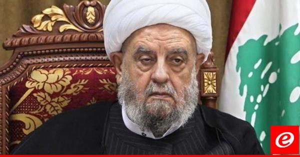 وفاة رئيس المجلس الإسلامي الشيعي الأعلى الشيخ عبد الأمير قبلان