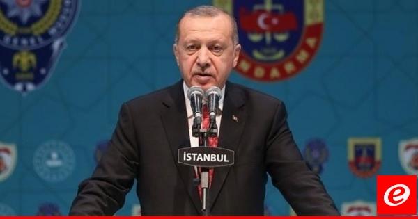 اردوغان: لن نسمح أبدا بإنشاء ممر إرهابي مجاور لحدود تركيا بشمال سوريا