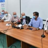 مؤتمر صحافي لبشارة الأسمر ولجنة مستخدمي ومتعاقدي مستشفى بيروت الحكومي- محمد سلمان