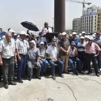 اعتصام لرابطتي المتقاعدين في التعليم الرسمي الثانوي والأساسي في ساحة الشهداء- محمد سلمان