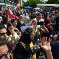 اعتصام عند تقاطع إيليا في صيدا