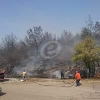 حريق في منطقة المشرف قضاء الشوف