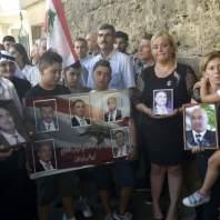 وقفة لأهالي شهداء التفجيرات الارهابية في القاع أمام المحكمة العسكرية- محمد سلمان