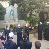الرهبانية المارونية تساعد بإزالة الأنقاض في بيروت