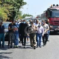 وقفة احتجاجية للعاملين والموزعين في قطاع الغاز أمام وزارة الطاقة – محمد سلمان