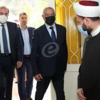 """زيارة وفد من """"القوات اللبنالنية"""" للقاء مفتي زحلة والبقاع الشيخ خليل الميس في تلة عنجر"""
