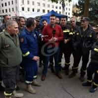 اعتصام لمتطوعي الدفاع المدني في ساحة رياض الصلح-محمد سلمان