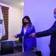 مؤتمر صحفي لوزير الصحة حمد حسن ووزيرة الإعلام منال عبد الصمد – محمد سلمان