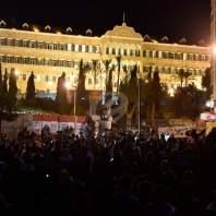 تظاهرة أمام السراي الحكومي-محمد سلمان