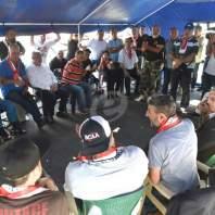 تجمع العسكريين المتقاعدين داخل الخيمة بساحة الشهداء- محمد سلمان