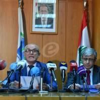 مؤتمرصحافي لوزير التربية طارق المجذوب-محمد سلمان