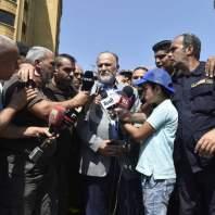 إعتصام لمتطوعي الدفاع المدني في ساحة رياض الصلح-محمد سلمان