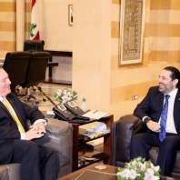 لقاء رئيس الحكومة سعد الحريري ووزير الخارجية الأميركي مايك بومبيو