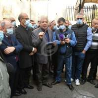 اعتصام أهالي الطلاب اللبنانيين بالخارج أمام مصرف لبنان - محمد سلمان