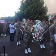 مراسم تشييع شهيد الجيش اللبناني رؤوف يزبك