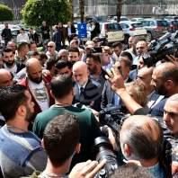 مؤتمر صحافي لفنيانوس بمبنى ادارة مرفأ بيروت - محمد سلمان