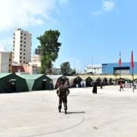 زيارة وزير الصحة الى المستشفى الميداني المغربي- محمد سلمان