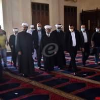 المفتي دريان تفقد الأضرار في جامع محمد الأمين