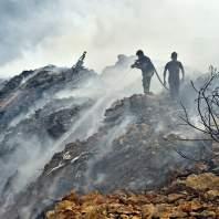 اندلاع حرائق في مزرعة يشوع-محمد سلمان