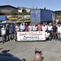 إعتصام تحذيري للهيئة العامة لنقابة مالكي الشاحنات-محمد سلمان