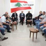 جعجع التقى وفداً من رؤساء المراكز والمحازبين في بلدان الإغتراب