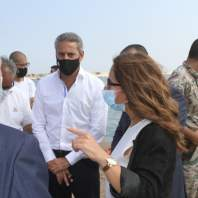 جولة وزيرة الدفاع زينة عكر في مرفأ بيروت