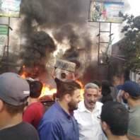 اضراب عين الحلوة رفضا لقرار وزير العمل