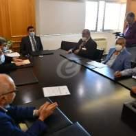 إجتماع بين وزير الاشغال ووفد من قطاع النقل البري-محمد سلمان