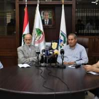 مؤتمر صحفي لرئيس اتحاد بلديات الضاحية الجنوبية- محمد سلمان