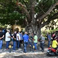 اعتصام للمصروفين من الجامعة الأميركية- سلمان