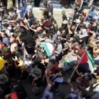 تحركات الفلسطينيين في صيدا رفضا لقرارات وزارة العمل