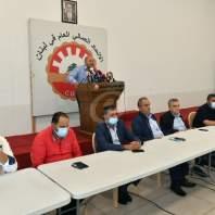 مؤتمر صحافي لرئيس الاتحاد العمالي العام - محمد سلمان